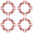 Vector clipart: rhomboid geometric pattern