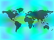 Vector clipart: world map over colored background