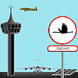 Vector clipart: military airport concept