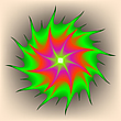Vector clipart: alien flower