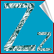 Vector clipart: alphabet letter Z sticker
