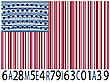 Vector clipart: america bar codes flag