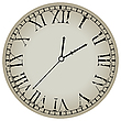 Vector clipart: ancient clock against white
