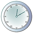 Vector clipart: ancient clock