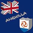 Векторный клипарт: Ангилья 3D флаг