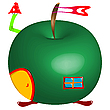 Vector clipart: apple house
