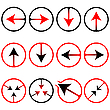 Vector clipart: arrows icons