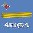 Векторный клипарт: Аруба 3D флаг