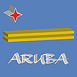Vector clipart: aruba 3d flag