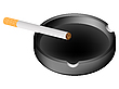 Vector clipart: ashtray and cigarette against white