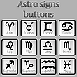 Vector clipart: astro signs buttons