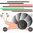 Vector clipart: auto snail cartoon