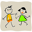 Vector clipart: beautiful kids