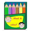 Vector clipart: back to school and pencils