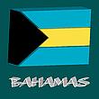 bahamas 3d flag