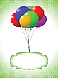 Vector clipart: balloons and bubble
