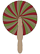 Vector clipart: bamboo fan against white
