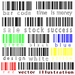 Vector clipart: bar codes against white