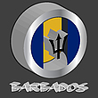 Vector clipart: barbados 3d flag
