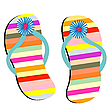Vector clipart: beach shoes against white