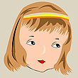 Vector clipart: beautiful girl face