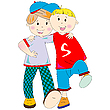Vector clipart: best friends cartoon