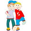 Best friends cartoon | Stock Vector Graphics