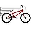 Vector clipart: bicycle moving
