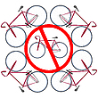 Vector clipart: bicycles not allowed here