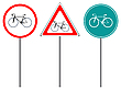 Vector clipart: bike traffic signs