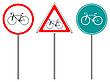 Znaki drogowe rower | Stock Vector Graphics