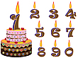 Vector clipart: birthday cake