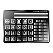 Vector clipart: black calculator against white