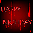 Vector clipart: bloody birthday