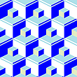 Vector clipart: blue abstract cubes