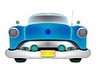 Blue classic car | Stock Vector Graphics