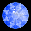 Vector clipart: blue diamond against black