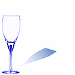 Vector clipart: blue glass with space for text