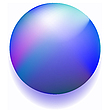Vector clipart: blue magic ball