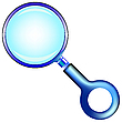 Vector clipart: blue magnifying glass