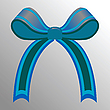 Vector clipart: blue ribbon