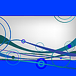 Vector clipart: blue waves and circles