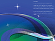 Vector clipart: blue wavy background