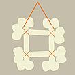 Векторный клипарт: рамка из косточек