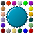 Vector clipart: bottle caps in colors collection