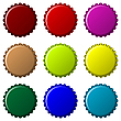 Vector clipart: bottle caps in colors