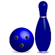 Vector clipart: bowling concept