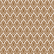 Vector clipart: brown damask seamless texture