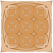 Vector clipart: brown handkerchief