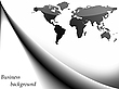 Vector clipart: business background with world map